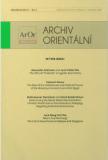 Archiv Orientální 85, 3